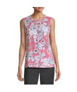 Liz Claiborne Keyhole Neck Sleeveless Blouse Sizes S, XL New   - $12.99