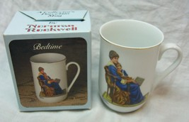 "VINTAGE 1982 Norman Rockwell BEDTIME Mother & Son 4"" MUG CUP TC5  NEW - $19.80"