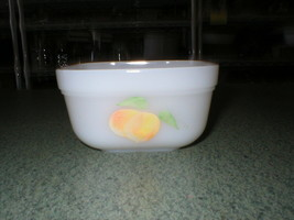 """Mini Vintage Fire King Oven Ware 4"""" Dish Hand Painted Peaches  - $8.99"""