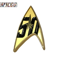 Star Trek Badge Star Trek 50th Anniversary Magnetic Badge Pin With Gift ... - $8.50