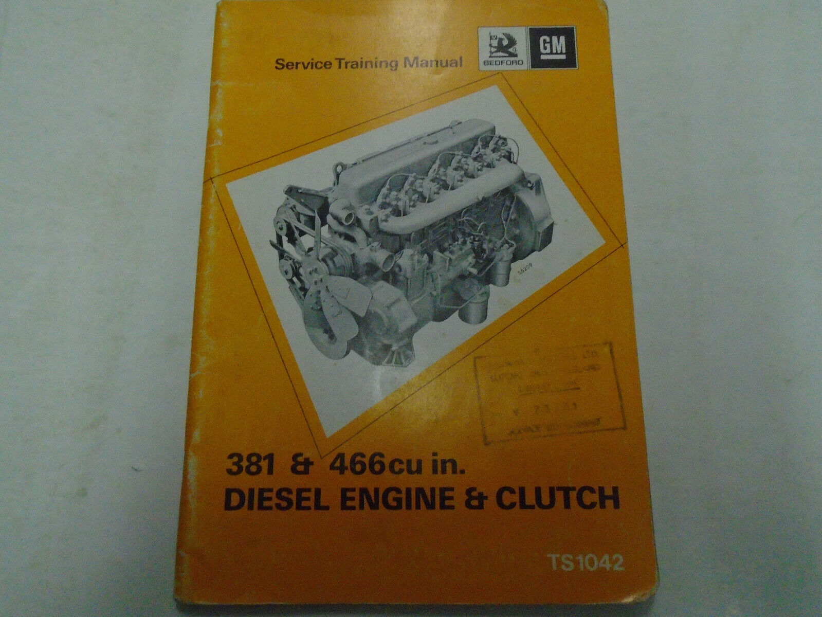 Primary image for 1971 GM 381 & 466 cu In Diesel Engine Clutch Service Repair Shop Training Manual