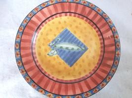 Johnston Brothers Caribbean Design 6 Salad Plates Stone Wear - $28.05