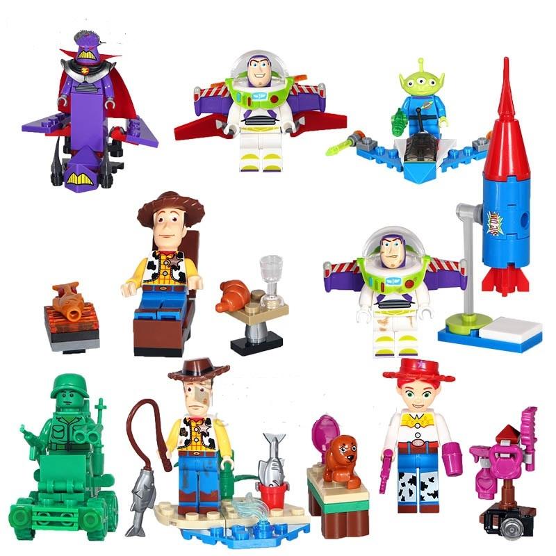 Toy Story Buzz Lightyear Woody Emperor Zurg  8pcs Lego Minifigure Toys Set for sale  USA