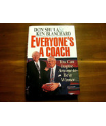 DON SHULA KEN BLANCHARD HOF DOLPHINS SIGNED AUTO EVERYONE'S A COACH BOOK... - $148.49