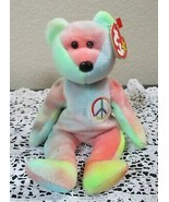 Ty Beanie Baby Peace Bear 5th Generation USED - $5.93