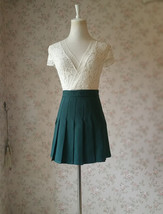 Women Girls Campus Style Pleated Mini Skirt School Skirt, Black White, Plus Size image 8