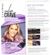 2 Clairol Color Crave Lavender Bold Semi Perm Dye For Brown Blonde Bleac... - $17.99