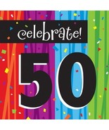 Milestone 50th  60th Birthday Over Hill Party 16 Luncheon Napkins Milest... - $3.41