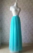 Maxi Full Tulle Skirts Wedding Separate Skirt Bridesmaid Tulle Skirts Water Blue image 4