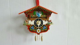 German Black Forest Mini Cuckoo Clock Chalet House with Bird and Deer Sh... - $19.99