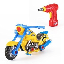 Take Apart Toy Racing Motorcycle Kit for Kids with Electric Drill and Po... - $24.07
