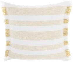 Yellow and White Soft Stripes Throw Pillow - $32.17