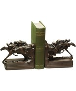 Bookends Too Close To Call Race Horse Race Equestrian Hand - $209.00