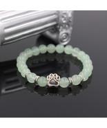 Hot Selling Natural Stone Mala Bead Yoga Bracelet Pitbull Dog Hand Paw 8... - $13.95