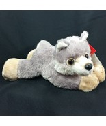 Woolsey Wolf 8 Inch Stuffed Animal Aurora Mini Flopsie Plush Husky New w... - $15.99
