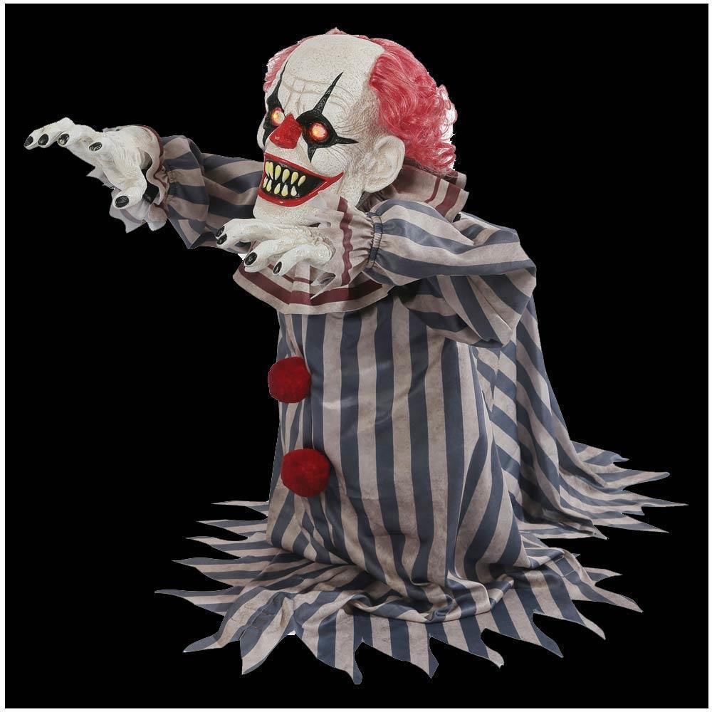 Jumping Clown Prop Animated Lunging Haunted House Halloween Decoration FAST SHIP