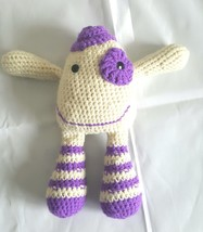 Crocheted Handmade Amigurumi Doll Friendly Monster Stuffed Toy Stuffie Yarn - $19.79