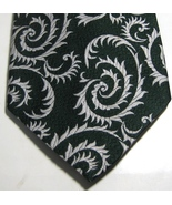 ULTRA RARE Rich Green White Paisley  Vintage Wide  Tie - $29.99