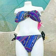 NEW Xhilaration Bikini size Small 2 Pc Bandeau w/ Tie Bottom - $14.84