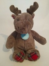"Cloud B DREAMY HUGGINZ brown HOLIDAY MOOSE plush stuffed animal 15"" NEW - $10.39"