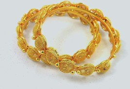 Indian Traditional Bollywood Bangles Bridal Ethnic Gold Plated Bracelets... - $12.13