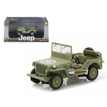 1944 Jeep Willys C7 U.S. Army Green with Star on Hood 1/43 Diecast Model... - $31.92