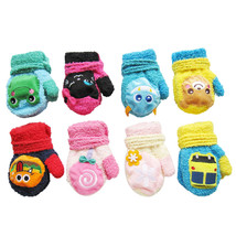 Amazing Coral Velvet Gloves Cute Cartoon Character Warm Halter Mittens G... - $9.96 CAD