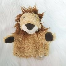 "6"" Folkmanis Lion Tan Brown Soft Furry Plush Stuffed Puppet Toy Lovey B350 - $9.99"
