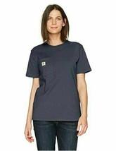 NWT Carhartt Women's WK87 Workwear Pocket SS T-Shirt Grey Small - $19.79