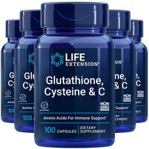 L-Glutathione, Cysteine and Vitamin C 5X100Caps Amino Acid Immune Life Extension - $78.16