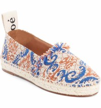 CHLOE Tapestry Espadrille Flat Shoes 38 MSRP: $530.00 - £255.24 GBP