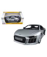 Audi R8 V10 Plus Silver 1/18 Diecast Model Car by Maisto 36213S - $53.62