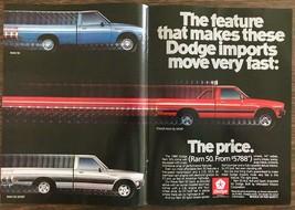 1986 Dodge Ram 50 Ram 50 Sport & Power Ram 50 Sport Centerfold Print Ad - $10.62
