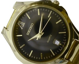 """Seiko Watch SNE444 Men""""s Stainless Steel Gold Tone Water Resistant  - $68.95"""
