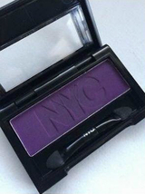 NYC Eye Shadow Single, In Vogue 910, Mono, matte dark purple full size  - $7.49