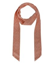 Le Nom Flower Pattern Jersey Knit Skinny Scarf (PEACH) - $6.92