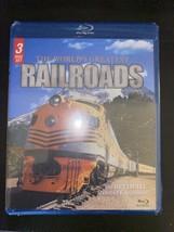 Worlds Greatest Railroads (Blu-ray Disc, 2012, 3-Disc Set) NEW & SEALED - $4.75