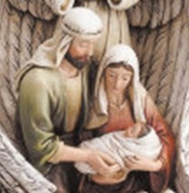 Guardian Angel with the Holy Family Figurine image 2