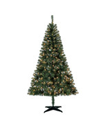 Pre-Lit 6.5' Madison Pine Green Artificial Christmas Tree, Clear-Lights  - $60.30
