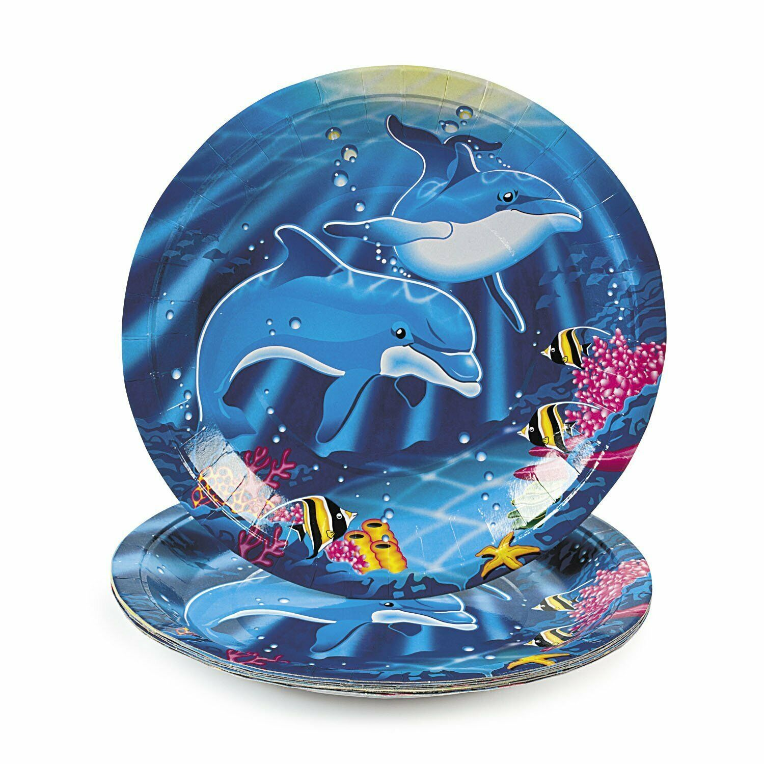 Dolphin Paper Dinner Plates (8 Pack) 9""