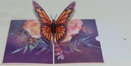 Lovepop LP2397 Monarch Butterfly Pop Up Card White Envelope Cellophance Wrapped image 3