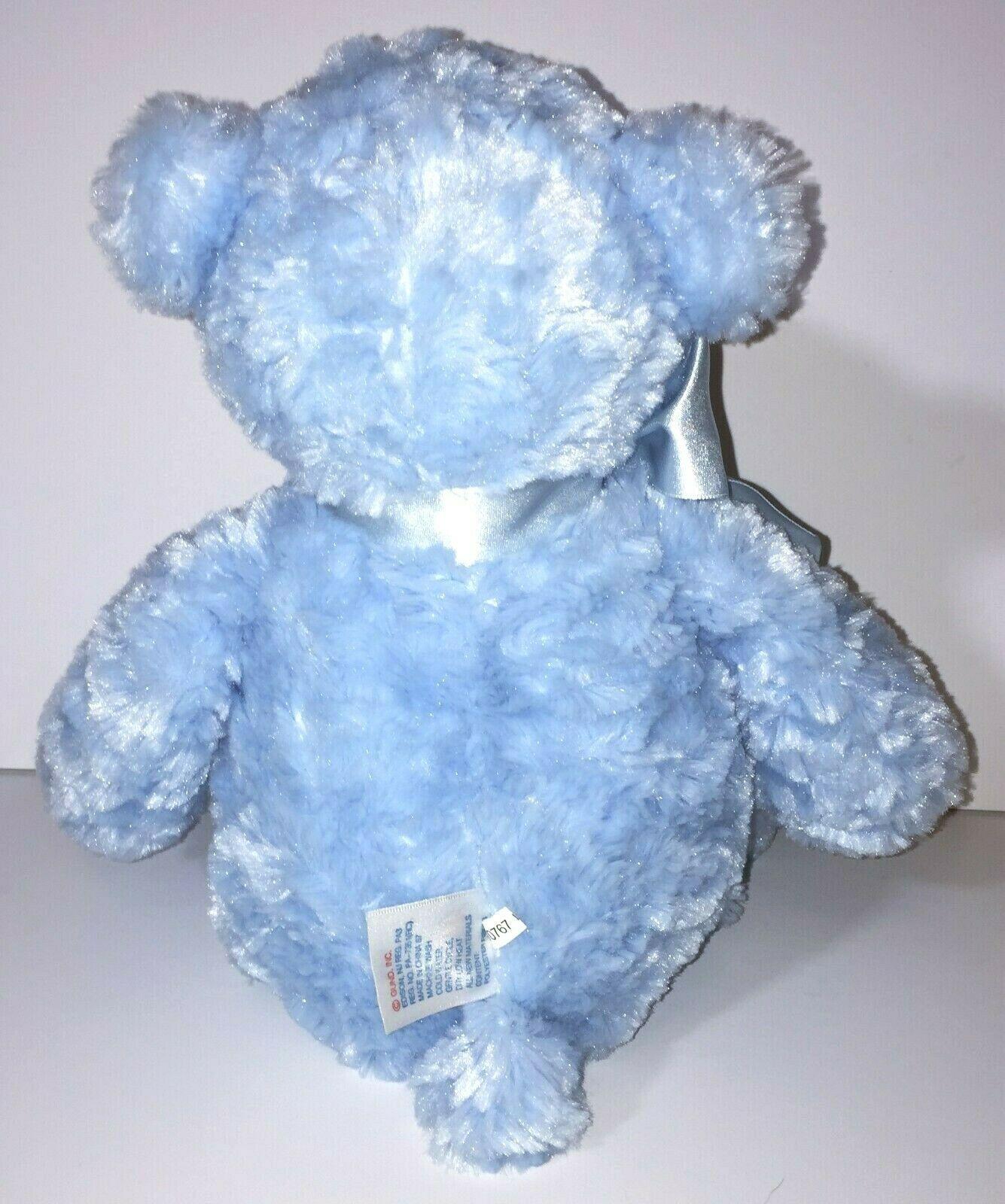 "Blue 12/"" God Bless Baby Teddy Baby Gund"