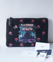 "NWT Coach Disney X Sleeping Beauty ""A Dark Fairy Tale"" Turnlock Pouch 26... - £53.70 GBP"