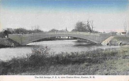The Hill Bridge Exeter River New Hampshire 1910c postcard - $6.44