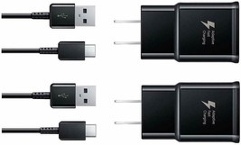 Wall Charger Fast Charger-Adaptive Fast Charger Kit Type-C USB for Samsung Black - $14.84