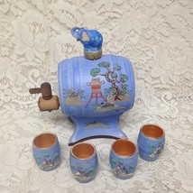 1930s Rare Hinode Japan Variant Gaudy Blue Willow Tea Barrel 4 Handless ... - $142.45