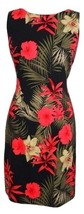 AGB Dress Size 10 Floral Print Fitted Sheath Mini Sleeveless Stretch - $19.99