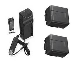 Two 2X Batteries + Charger For Panasonic HDC-TM900K HDC-TM900P HDC-HS900PC - $43.19