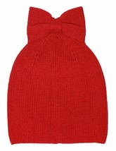 kate spade new york Women's Black Solid Bow Beanie Charm Red - $39.59