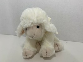 Russ Berrie Woolo plush white cream sheep lamb small stuffed animal flor... - $5.93